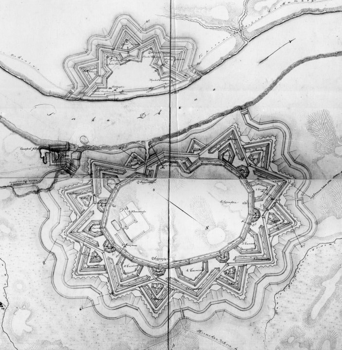 Truzson Map of Dinaburg Fortress - 1816