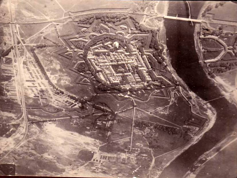 WWI Aerial Photograph of Dinaburg Fortress
