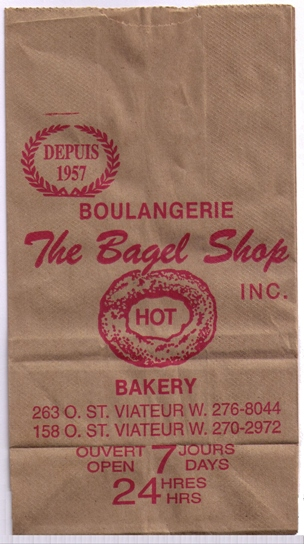 St. Viateur Bagel Bag