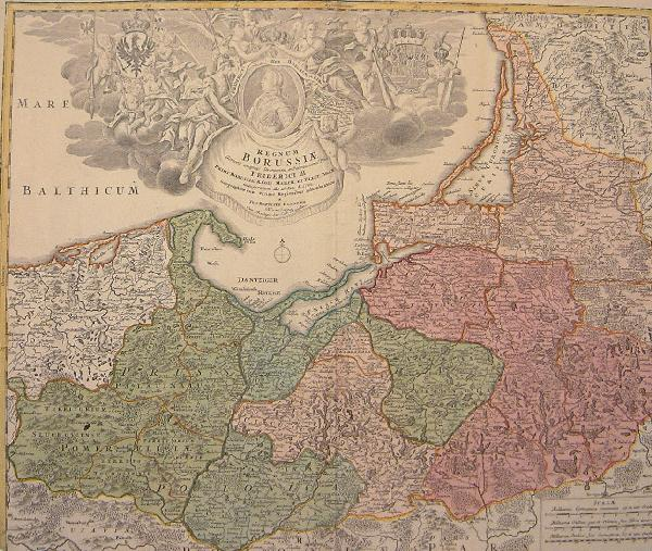 Homann Map of Prussia, 1720