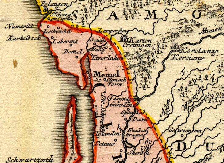 Homann Map of Prussia, 1720 - Detail