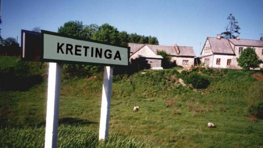 Kretinga Road Sign