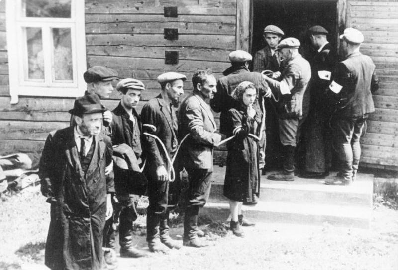 Lithuanian Collaborationist Police Arresting Jews