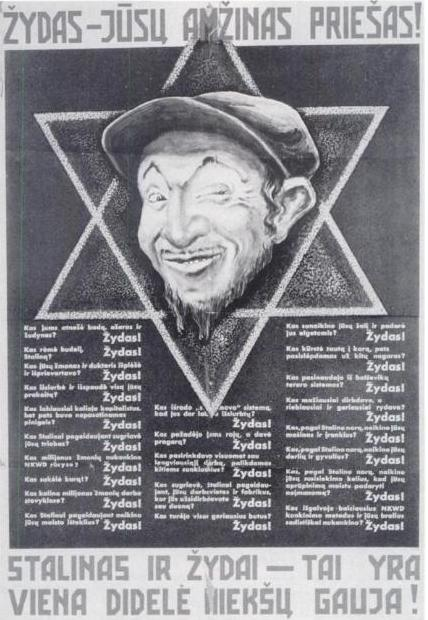 Anti Semitic Lithuanian Poster