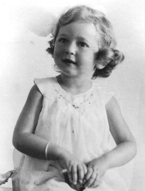 Shirley as a child
