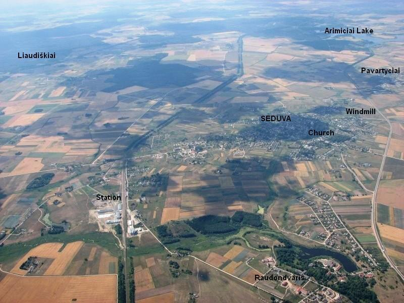 Aerial view of Seduva