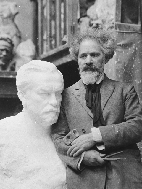 Aronson with Bust of Pasteur