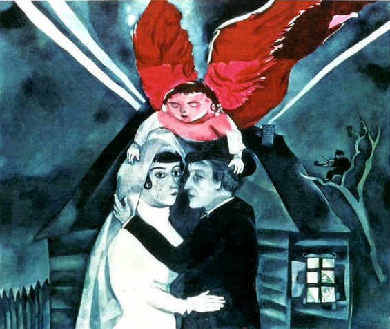 chagall - wedding