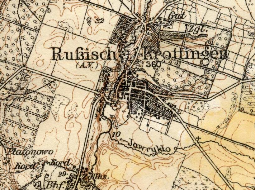 Map of Kretinga - 1914