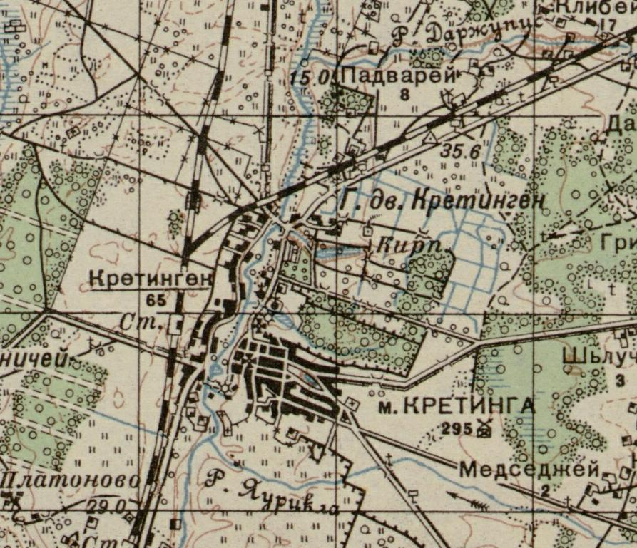 Map of Kretinga - 1910