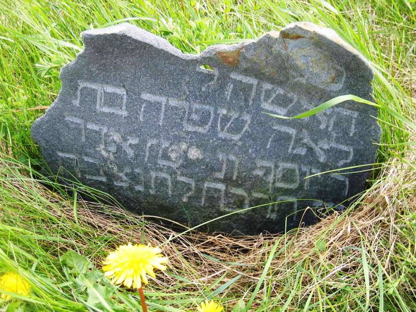 Gravestone in the Shadova Jewish cemetery
